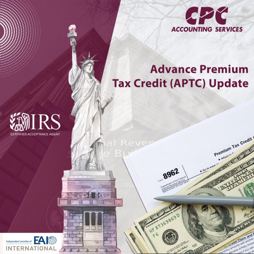 Actualización anticipada de impuestos premium (APTC)