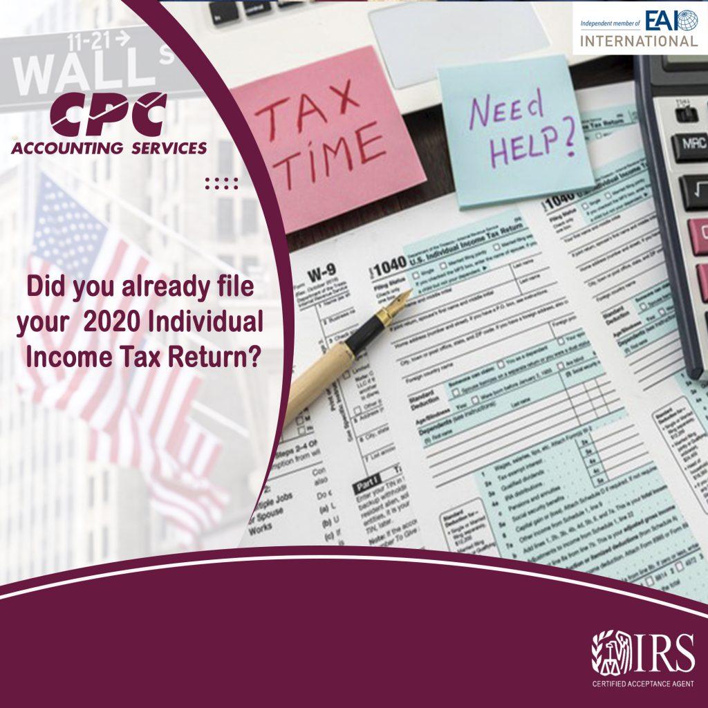 Ya presentaste tu devolución de impuestos a la renta individual de 2020?