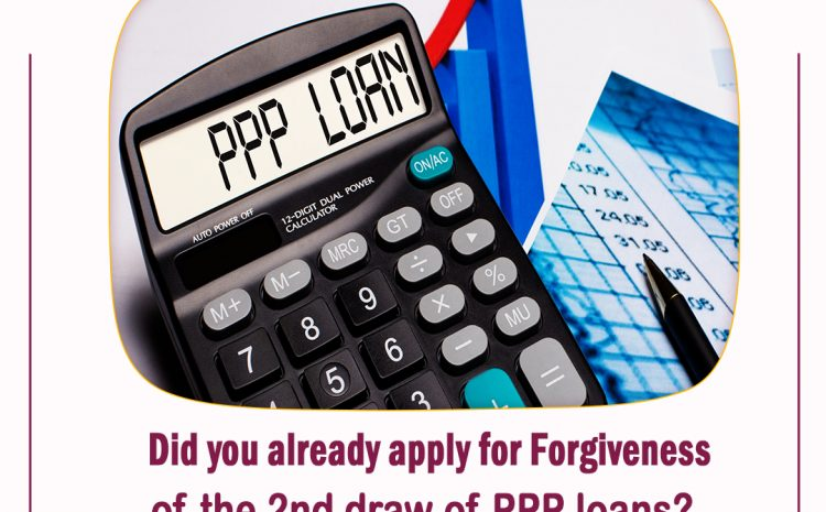 Did you already apply for Forgiveness for the Second Draw of PPP Loans?